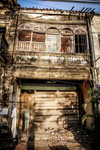 Dilapidated Colonial Building in Kampot, Cambodia