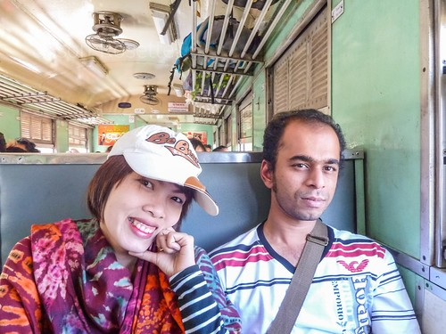 Young Couple on a Train in Thailand