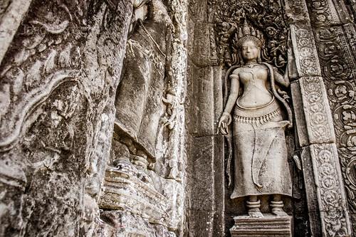 Low Angle View of Apsara Dancer Carving at Angkor. Siem Reap (#2)