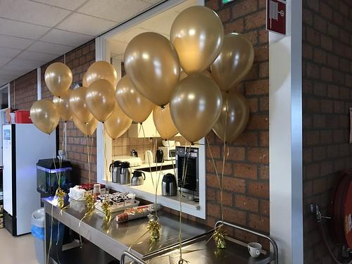 Tafeldecoratie 3ballonnen SBO de Branding Spijkenisse