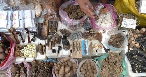 Traditional Medicines for Sale in Vietntiene, Laos