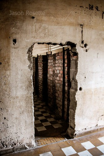Improvised Doorway, Tuol Sleng Genocide Museum Cambodia