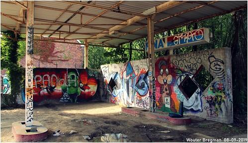 The old garage & FINA petrol station