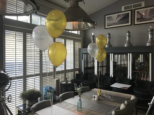 Tafeldecoratie 3ballonnen Bedrukt Beachclub8 Rockanje