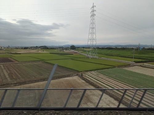 View from Shinkansen, Tokyo (東京駅) to Hakata (博多駅)