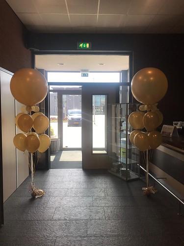 Cloudbuster met Heliumballonnen Goud