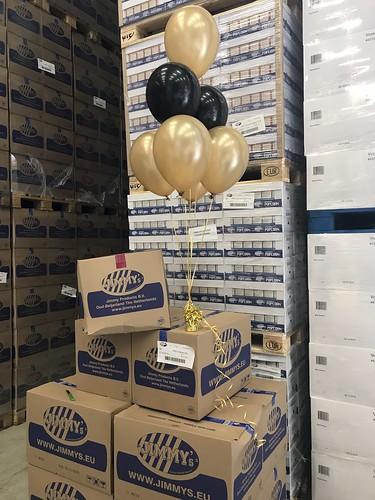 Tafeldecoratie 6ballonnen Jimmys Popcorn Oud Beijerland