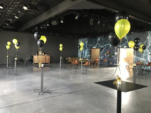 Tafeldecoratie 3ballonnen The Harbour Club Vinkeveen