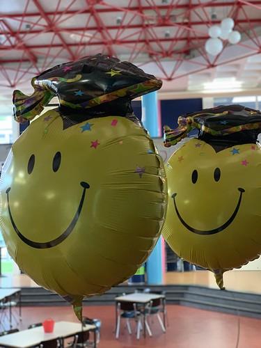 Cloudbuster Rond Folieballon Smiley Diplomering Penta College Spijkenisse Geslaagd