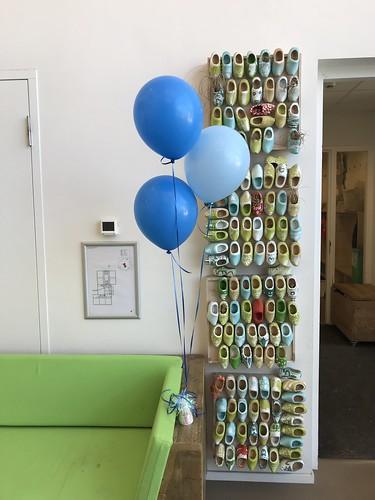 Tafeldecoratie 3ballonnen Dr Schaepmanschool Barendrecht