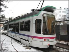Alsthom TFS (Tramway Français Standard) – TPAS (Transports Publics de l'Agglomération Stéphanoise) (Veolia Transport) / STAS (Société de Transports de l'Agglomération Stéphanoise) n°912 - Photo of La Tour-en-Jarez