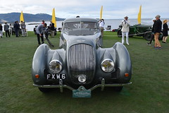 Bentley 4-1/4 Litre Pourtout Aerodynamic Coupe, 1938. Bentley was a featured Marque @ Pebble Beach this year.  [PB 2019 DSC_1208].