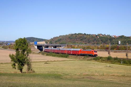 DB 152 004 + Güterzug/goederentrein/freight train   - Friedland