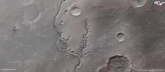 3D-Ansicht eines Teils des Nirgal-Tals auf dem Mars