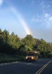 Early Morning Rainbow; Long Island, New York