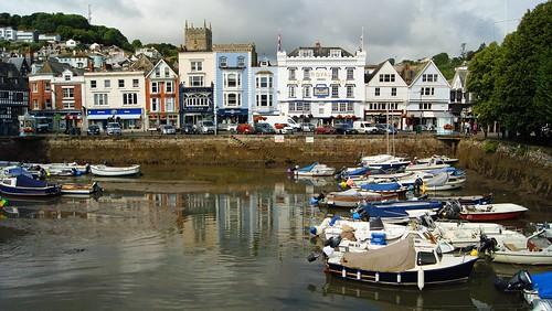 Dartmouth harbour panorama