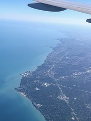 The city of Chicago from above