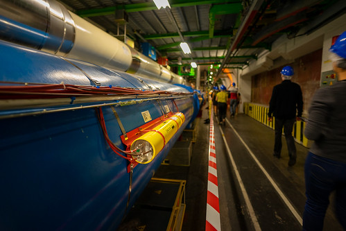 CERN: The yellow along the blue tube (2/3)