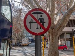 No Street Vendors Allowed SIgn