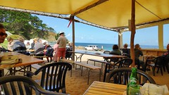 Beach cafe in Brittany