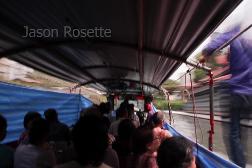 POV, Passenger on a Khlong Boat in Bangkok