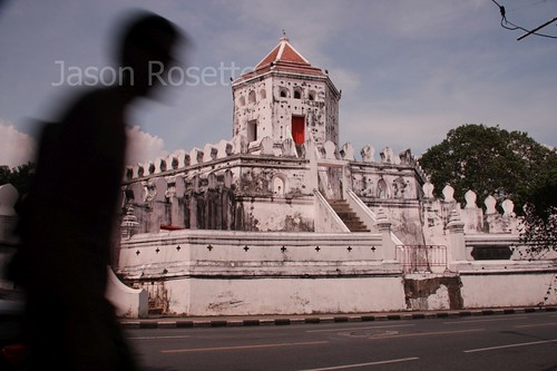 Phra Sumen Fort in Bangkok with Pedestrian Profile