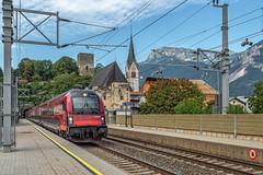 ÖBB Railjet Xpress Triebwagen 80-90 756 - Bhf Rattenberg - Tirol - AT