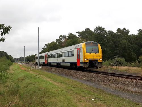 Elektrificatie diesellijn 15 in Heppen bij Leopoldsburg