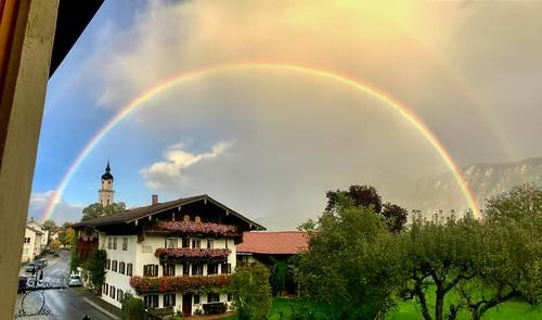 Rainbow over Kiefersfelden, Bavaria, Germany
