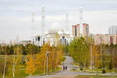Park and mosque