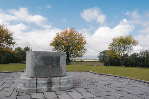 Hill 62 Memorial with Ypres on the Background