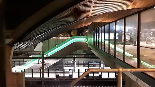 Sydney Metro North West. at night.