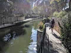 Janine Walking on Riverwalk