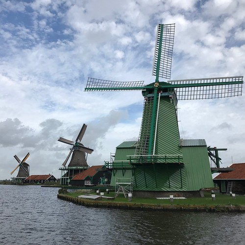 Windmills in rural Holland
