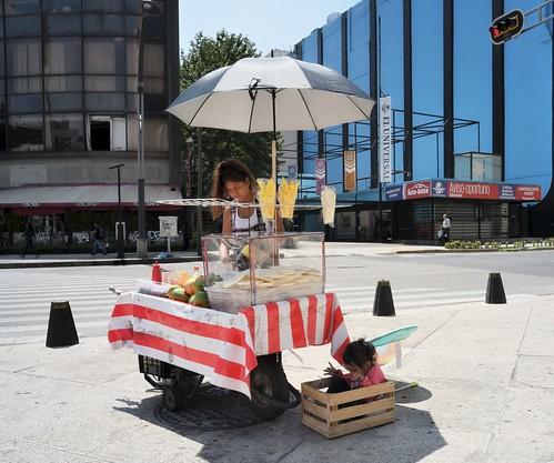 Vendedora de fruta, CDMX