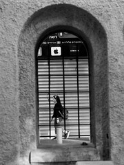 Window to the Street B&W