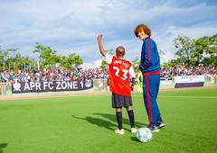 David Luiz attends Football Match in Kigali, Rwanda