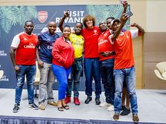 David Luiz Meets Arsenal Fans in Rwanda