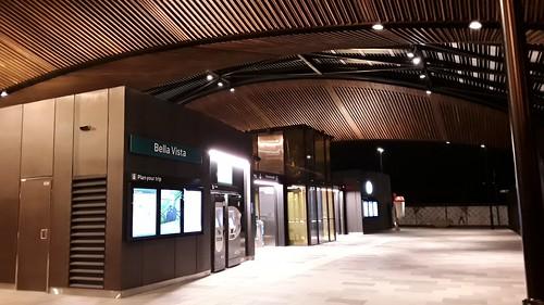 Sydney Metro North West after dark.