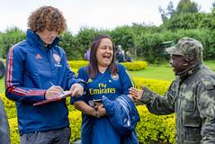 Arsenal Star David Luiz visits Mountain Gorillas in Rwanda