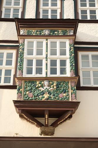 Mühlhausen/Thüringen: Erker am Haus