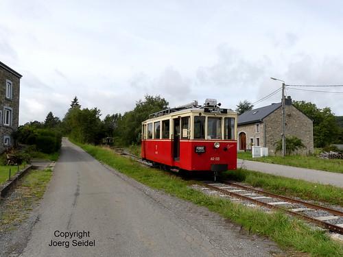 BE-6960 Manhay Tramway Touristique de l'Aisne (TTA) Gare de Lamorménil avec Autorail AR.133 im August 2019