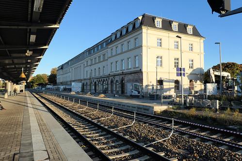 Empfangsgebäude Bf Bautzen Gleisseite Oktober 2019