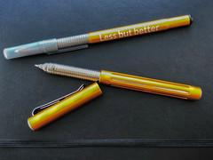 Orange pens