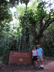 Michael & Lori at the Kalalau Trailhead