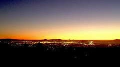 San Francisco Bay Sunset, from Oakland Hills burn area, south Lake Temescal.  IMG_3539 (1)