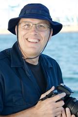My brother Ian on sightseeing cruise around Long Beach Harbor DSC_0258