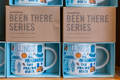 """Starbucks' """"Illinois - The prairie State"""" souvenir mugs from their """"Been there series"""""""