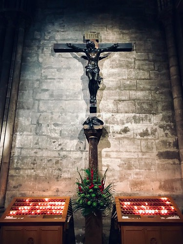 Crucifix - Inside Notre Dame Cathédral in Paris
