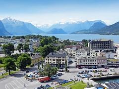 Norvège, les Fjords, ville d'Andalsnes